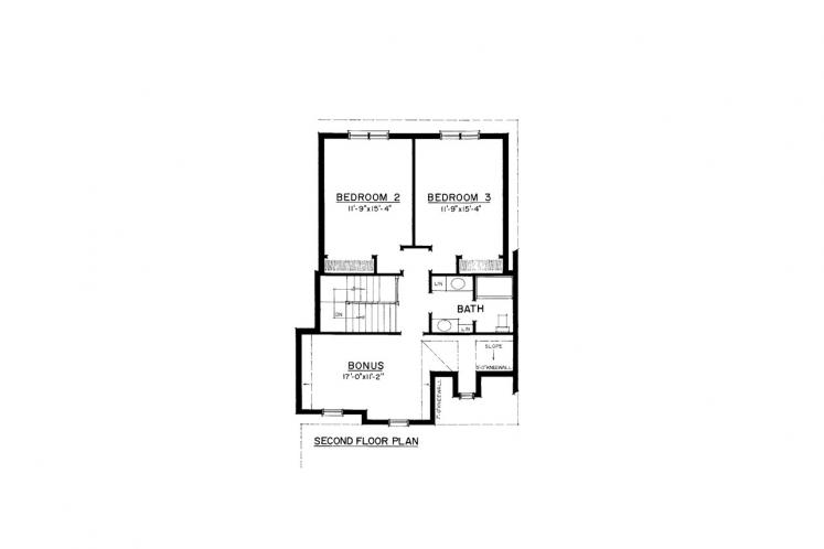 Country House Plan -  22657 - 2nd Floor Plan