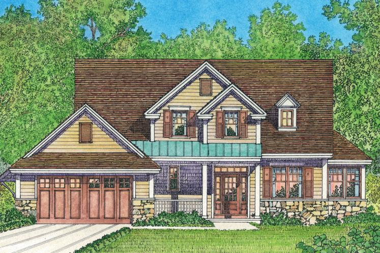 Country House Plan -  22657 - Front Exterior