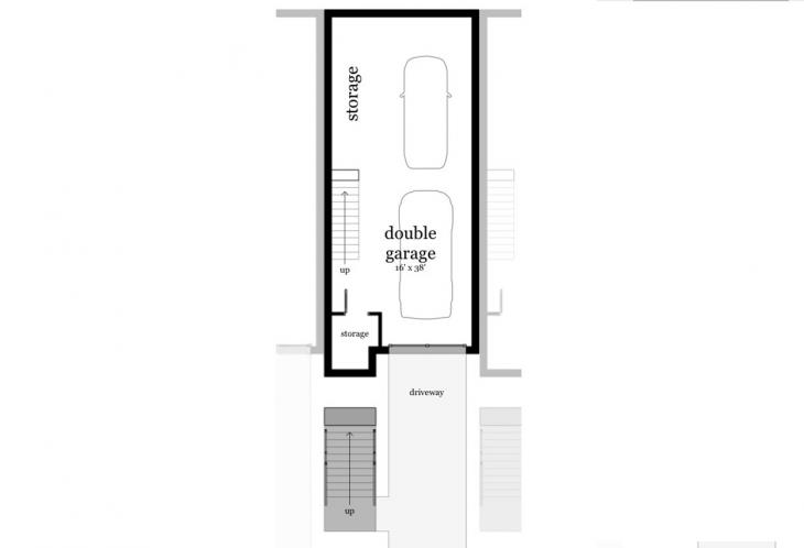 Modern Multi-family Plan - Hatteras 22708 - Basement Floor Plan