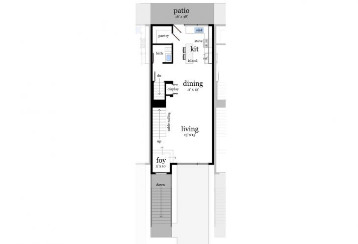 Contemporary Multi-family Plan - Hatteras 22708 - 1st Floor Plan
