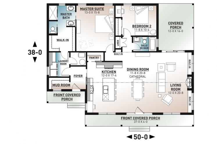 Ranch House Plan - Beauford 2 22987 - Other Floor Plan