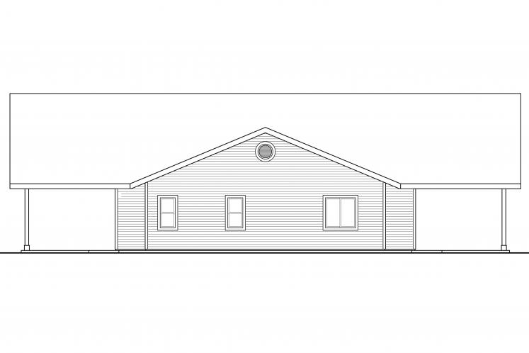 Ranch House Plan - Anacortes 23001 - Right Exterior