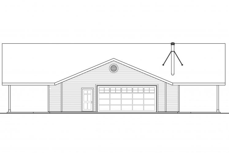 Lodge Style House Plan - Anacortes 23001 - Left Exterior