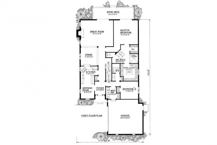 Country House Plan -  23075 - 1st Floor Plan