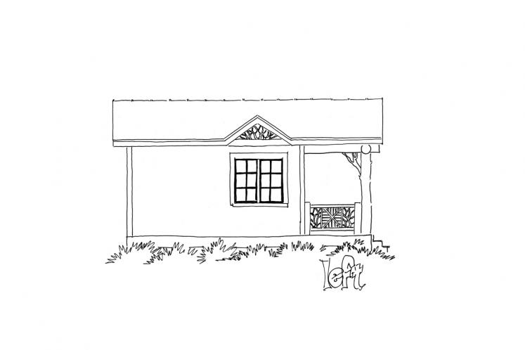 Lodge Style House Plan - Little Bear 23088 - Left Exterior