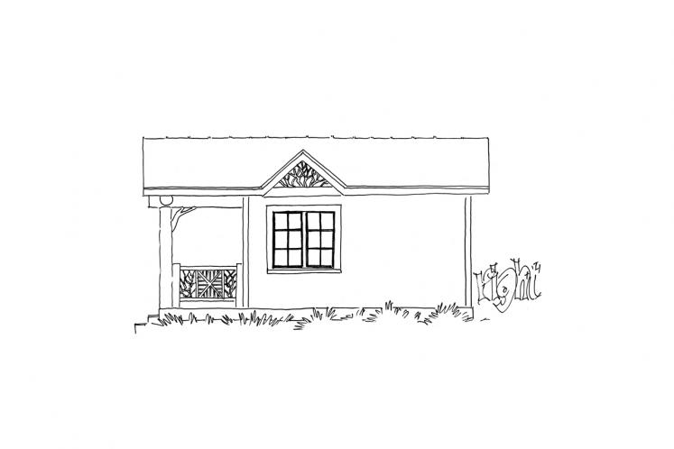 Cottage House Plan - Little Bear 23088 - Right Exterior
