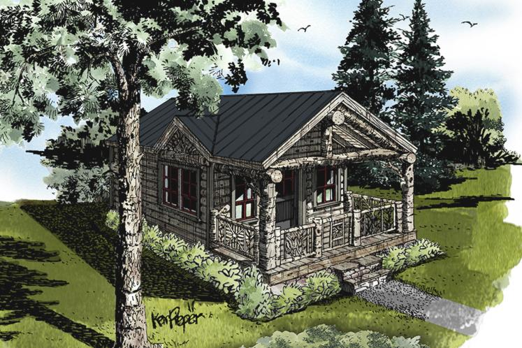 Cottage House Plan - Little Bear 23088 - Front Exterior
