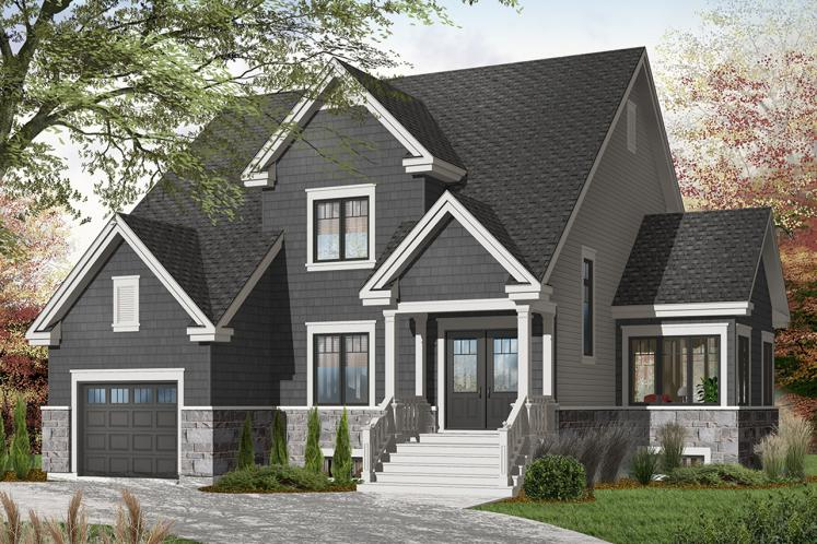 Country House Plan - Stephenson 23104 - Front Exterior
