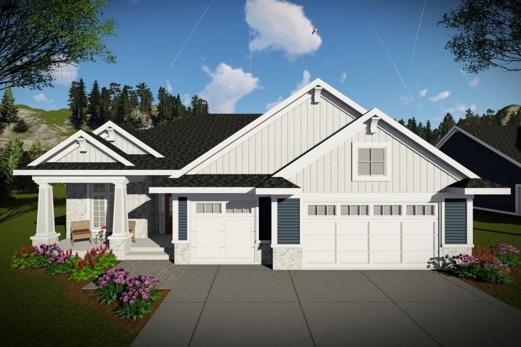 Traditional House Plan -  23108 - Front Exterior