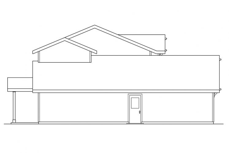 Traditional House Plan - Paisley 23114 - Left Exterior