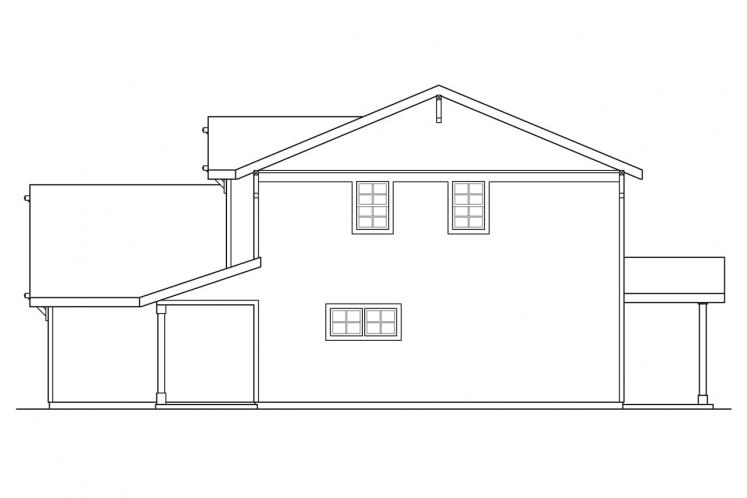 Country House Plan - Paisley 23114 - Right Exterior