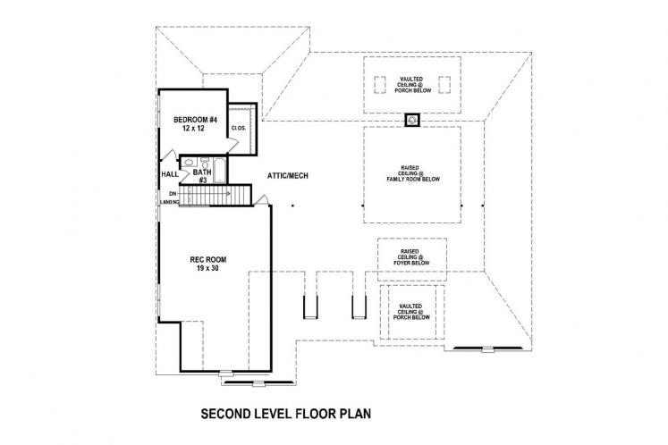 Country House Plan -  23139 - 2nd Floor Plan