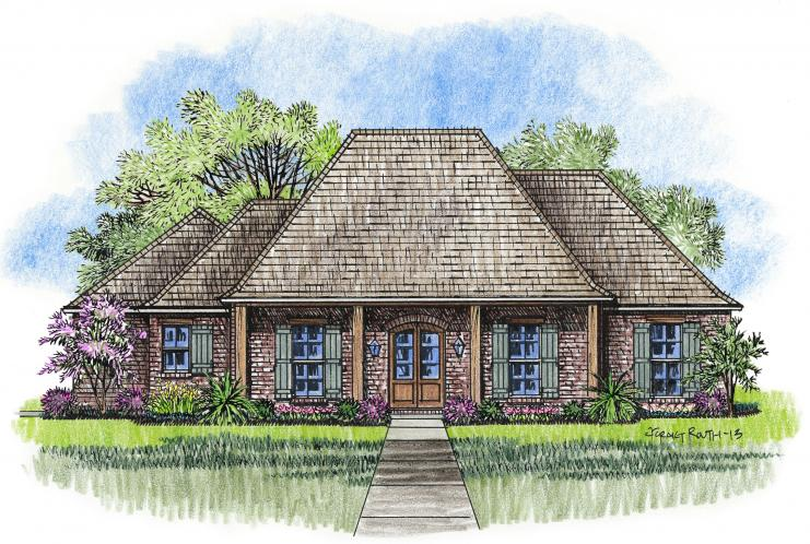 Southern House Plan - Elmwood 23180 - Front Exterior