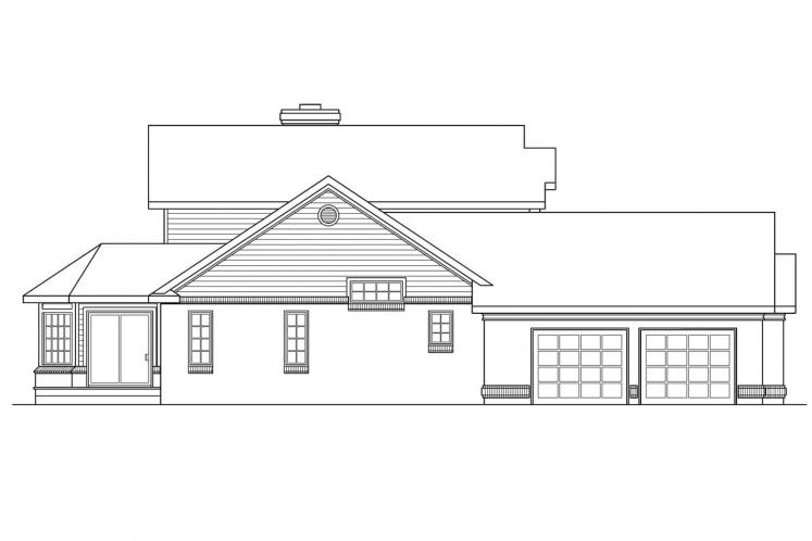 Southern House Plan - Charleston 23233 - Left Exterior