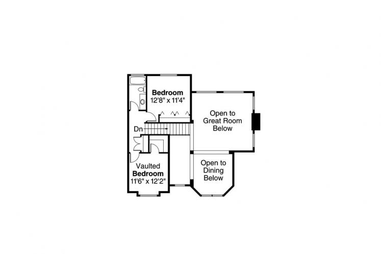 Southern House Plan - Charleston 23233 - 2nd Floor Plan