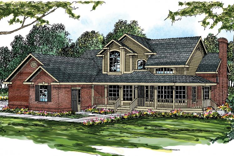 Country House Plan - Charleston 23233 - Front Exterior