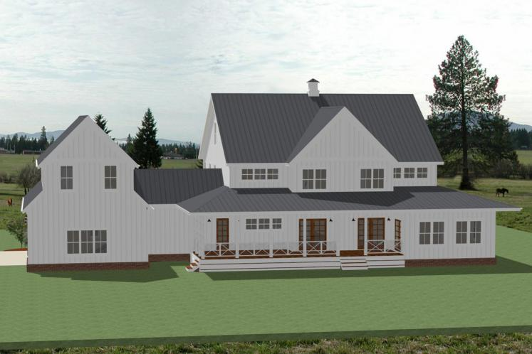 Country House Plan - Sweetbriar 23252 - Rear Exterior