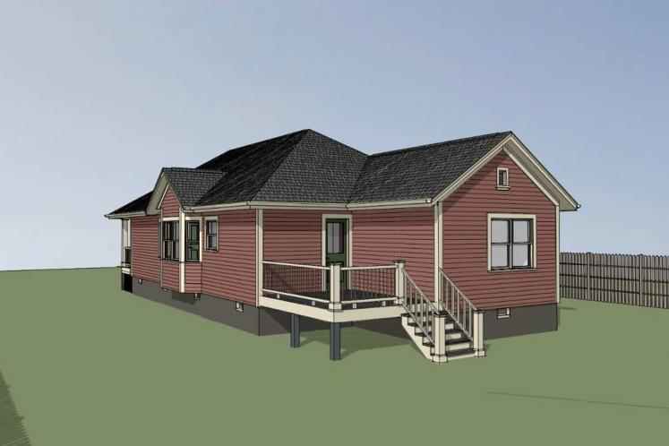 Cottage House Plan -  23271 - Right Exterior
