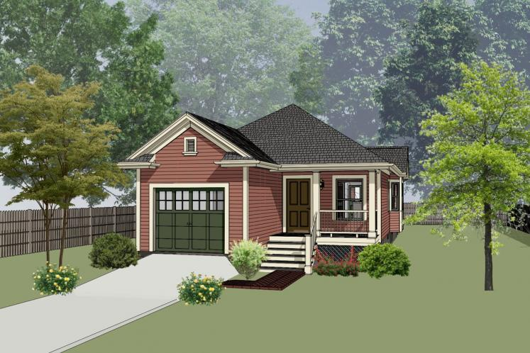 Country House Plan -  23271 - Front Exterior