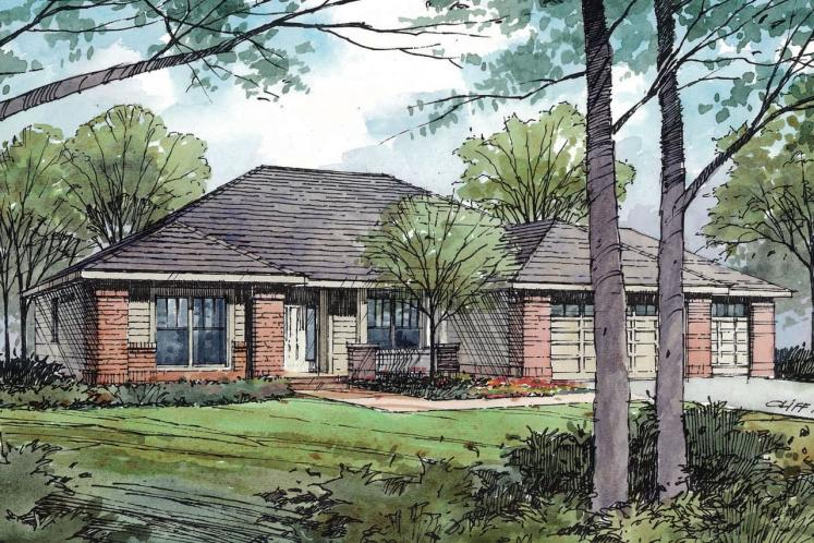 Traditional House Plan - Green Valley 23384 - Front Exterior