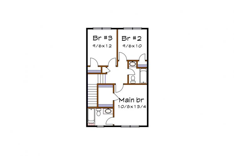 Country House Plan -  23483 - 2nd Floor Plan