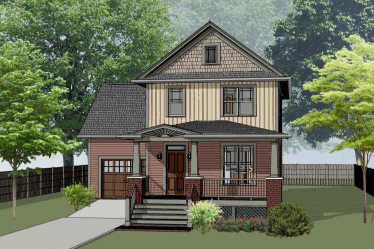 Craftsman House Plan -  23483 - Front Exterior