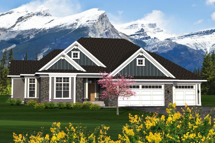 Ranch House Plan -  23545 - Front Exterior