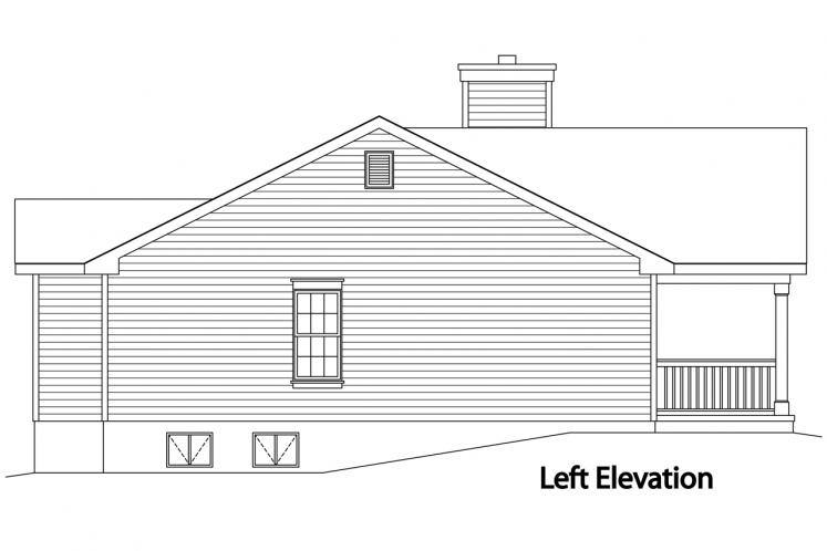 Traditional House Plan -  23572 - Left Exterior
