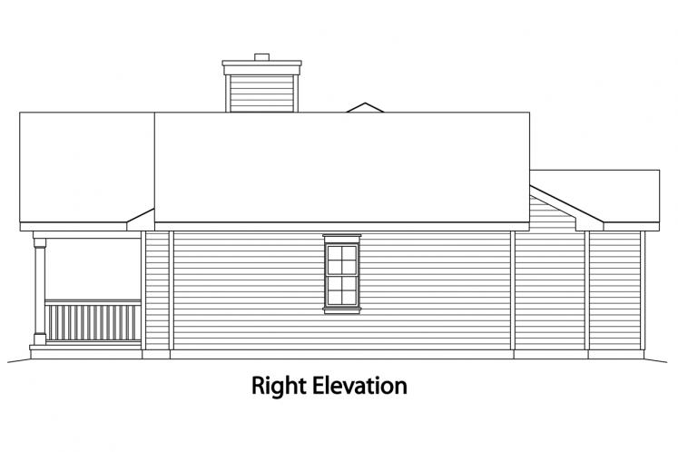 Ranch House Plan -  23572 - Right Exterior