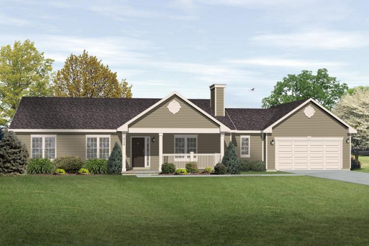 Traditional House Plan -  23572 - Front Exterior