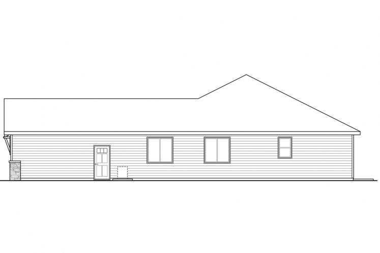 Ranch House Plan - Holyoke 23575 - Right Exterior