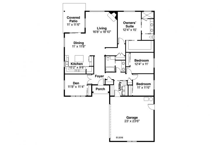 Contemporary House Plan - Holyoke 23575 - 1st Floor Plan
