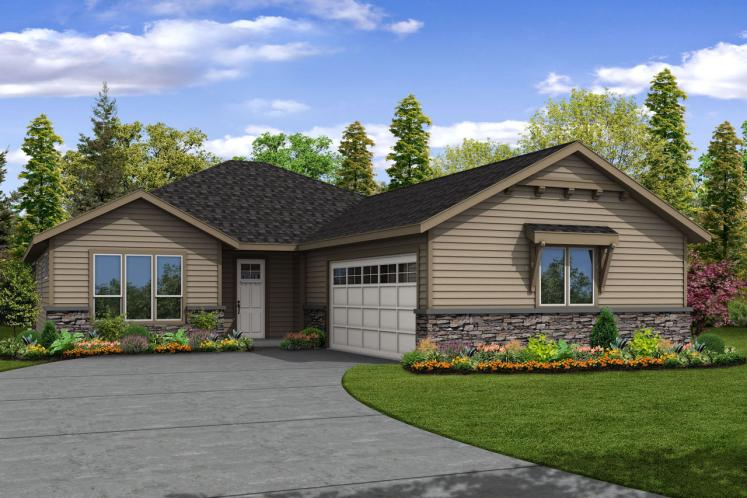 Ranch House Plan - Holyoke 23575 - Front Exterior