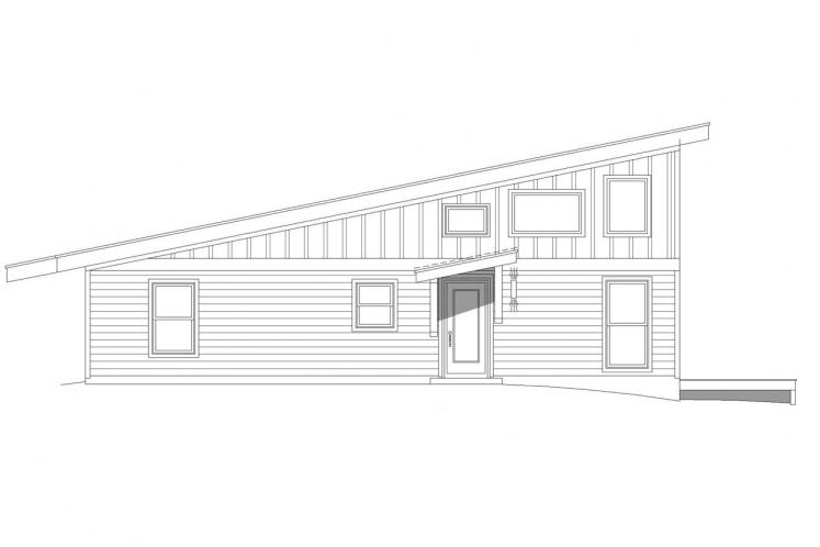 Contemporary House Plan - Discovery View 23658 - Left Exterior