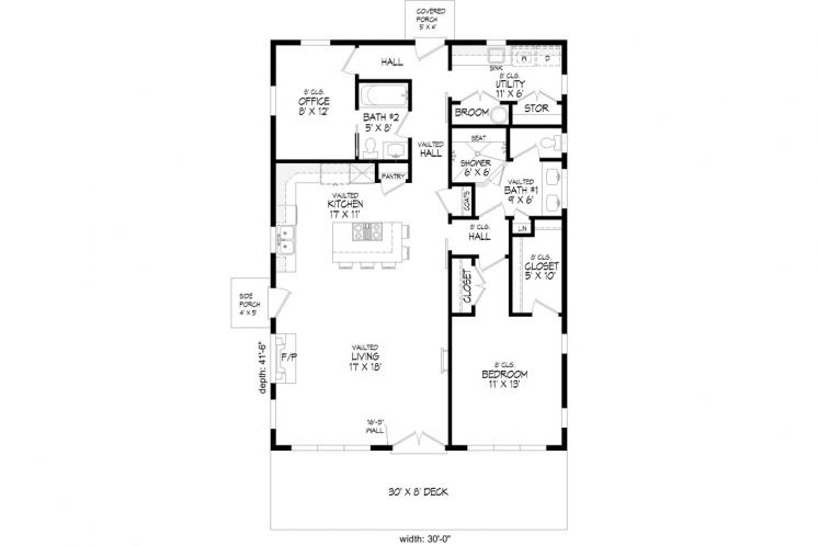 Contemporary House Plan - Discovery View 23658 - 1st Floor Plan