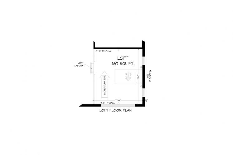 Modern House Plan - Discovery View 23658 - 2nd Floor Plan