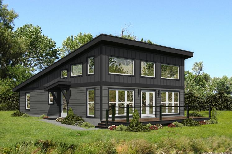 Modern House Plan - Discovery View 23658 - Front Exterior