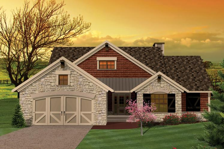 Craftsman House Plan -  23670 - Front Exterior