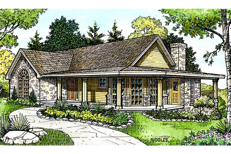 Country House Plan - Crockett 23687 - Front Exterior
