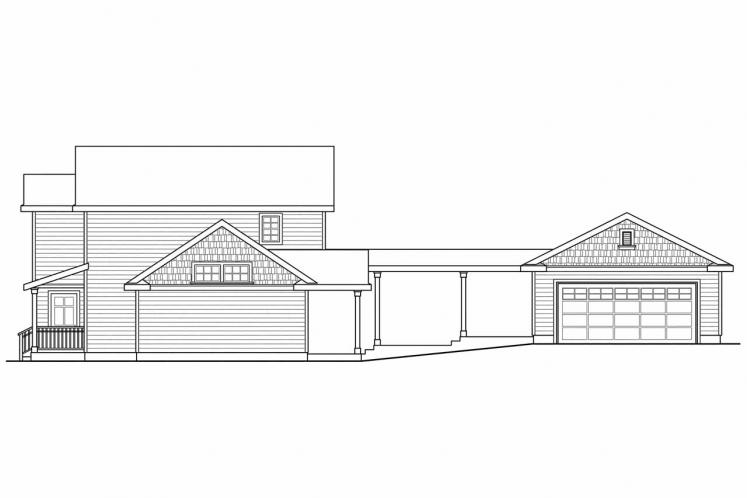 Country House Plan - Ellisville 23710 - Right Exterior