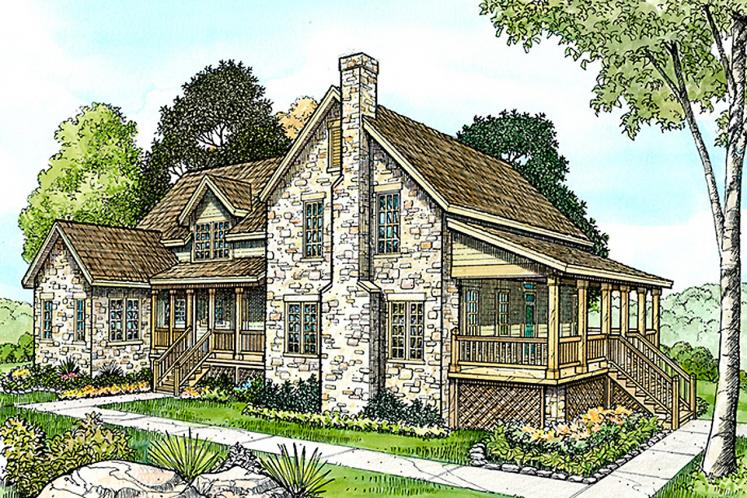 Country House Plan - Sisterdale 23742 - Front Exterior