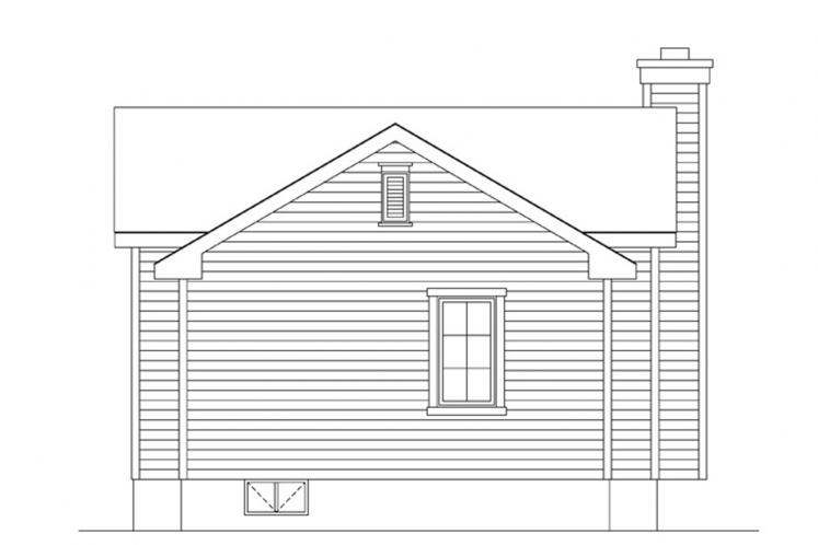 Traditional House Plan -  23812 - Rear Exterior