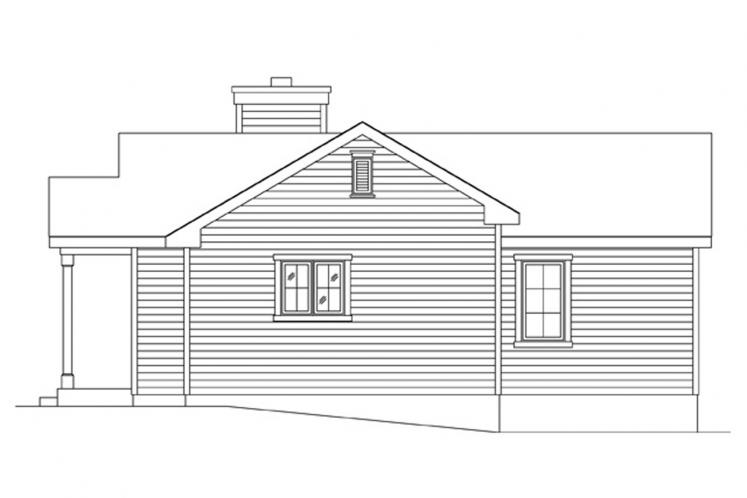 Traditional House Plan -  23812 - Right Exterior