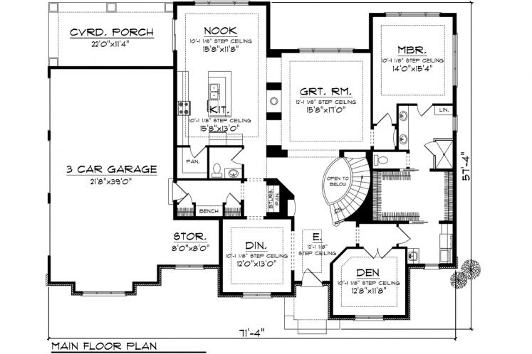 Contemporary House Plan -  23861 - 1st Floor Plan