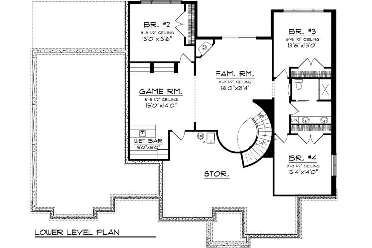 Ranch House Plan -  23861 - 2nd Floor Plan