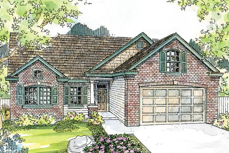 Classic House Plan - Glenbarr 23927 - Front Exterior