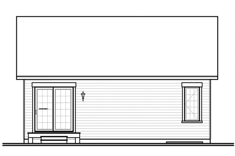 Cottage House Plan - Geary 24226 - Rear Exterior