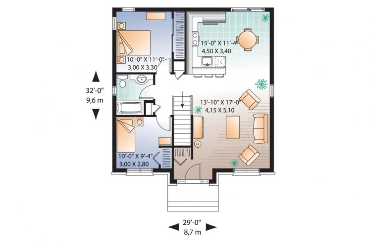 Traditional House Plan - Geary 24226 - 1st Floor Plan