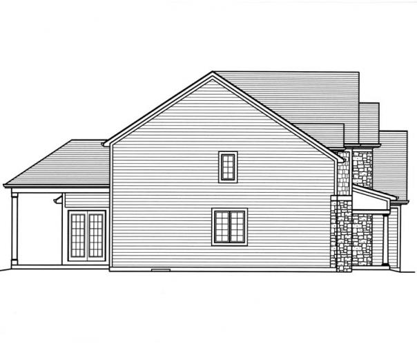 European House Plan - The Montpillier 24264 - Left Exterior