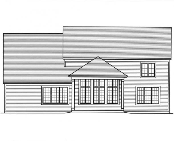 Classic House Plan - The Montpillier 24264 - Rear Exterior